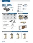 RO81U Especificaciones